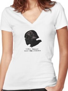 Grandfather - Kylo Ren Women's Fitted V-Neck T-Shirt