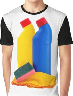 Cleaning Products Bottles Sponge and Duster Graphic T-Shirt