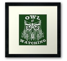 Owl be watching. Framed Print