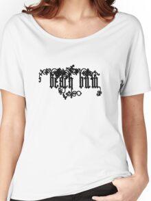 Beach Bum Black Text  Women's Relaxed Fit T-Shirt