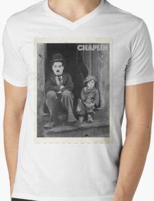 Charlie Chaplin Mens V-Neck T-Shirt