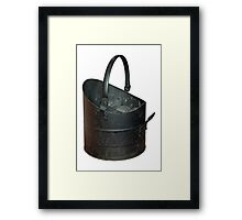 Coal Bucket Worn and Scratched Framed Print