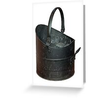 Coal Bucket Worn and Scratched Greeting Card