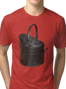 Coal Bucket Worn and Scratched Tri-blend T-Shirt