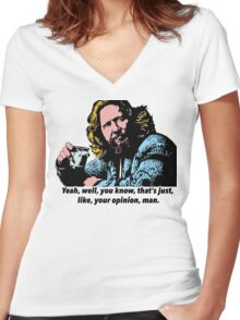 The Big Lebowski and Philosophy 1 Women's Fitted V-Neck T-Shirt