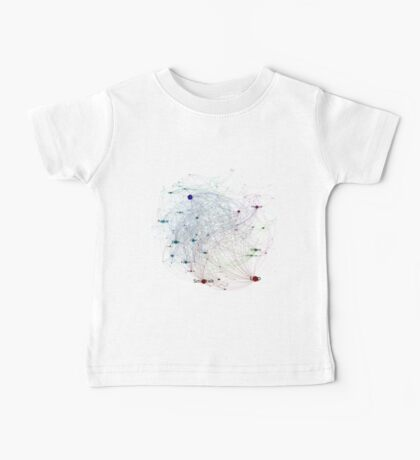 Programming Languages Influence Network 2014 Full - White Background Baby Tee
