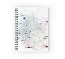 Programming Languages Influence Network 2014 Full - White Background Spiral Notebook