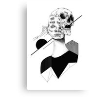 Skull and Woman 01 Canvas Print