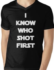 Shot First Mens V-Neck T-Shirt