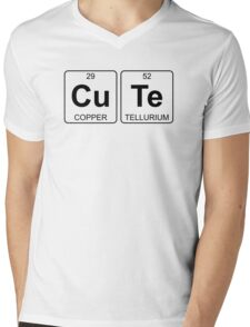 Cu Te - Cute - Periodic Table - Chemistry - Chest Mens V-Neck T-Shirt
