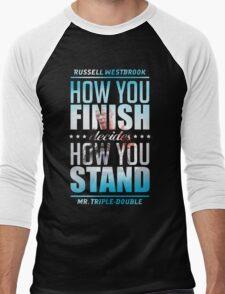 decides-3D Men's Baseball ¾ T-Shirt