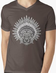 Bear Mens V-Neck T-Shirt