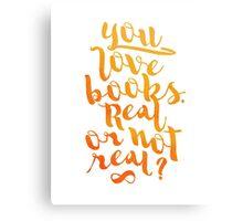 YOU LOVE BOOKS (ORANGE) Canvas Print