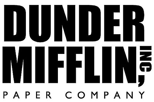 """""""Dunder Mifflin - The office """" Stickers by rosewelldesigns ..."""