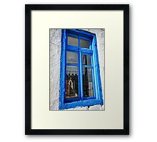 Reflection of a traditional Greek chapel Framed Print