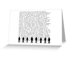 Seasons of Love(Black) Greeting Card