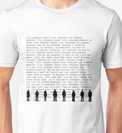 Seasons of Love(Black) Unisex T-Shirt