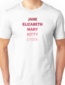 The Bennet Sisters from Pride and Prejudice Unisex T-Shirt