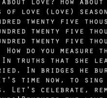 Seasons of Love(White) Sticker