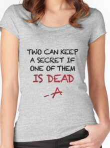 PLL Theme Song (Pretty Little Liars) Women's Fitted Scoop T-Shirt