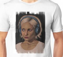 Riley Blue Headphones Portrait Sense8 Unisex T-Shirt