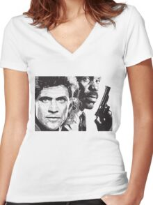 Lethal Weapon Women's Fitted V-Neck T-Shirt