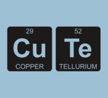 Cu Te - Cute - Periodic Table - Chemistry - Chest Kids Tee