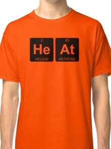 He At - Heat - Periodic Table - Chemistry - Chest Classic T-Shirt