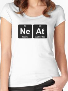Ne At - Neat - Periodic Table - Chemistry - Chest Women's Fitted Scoop T-Shirt