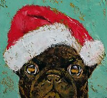 Santa Pug by Michael Creese