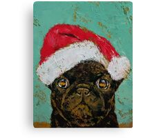 Santa Pug Canvas Print