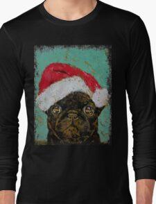 Santa Pug Long Sleeve T-Shirt