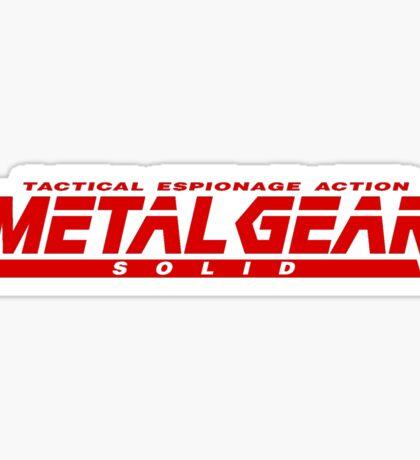 Metal Gear Solid Sticker
