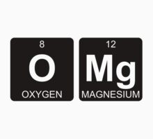 O Mg - OMG - Periodic Table - Chemistry - Chest Kids Tee