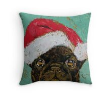Santa Pug Throw Pillow