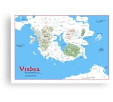 The Continent of Virdea Canvas Print