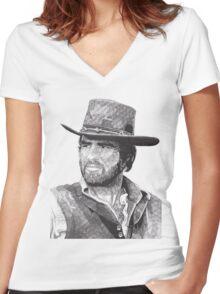Burt Women's Fitted V-Neck T-Shirt
