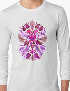 Tropical Symmetry – Magenta Long Sleeve T-Shirt
