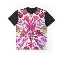 Tropical Symmetry – Magenta Graphic T-Shirt