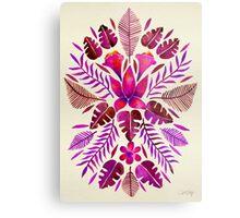 Tropical Symmetry – Magenta Metal Print