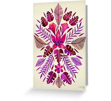 Tropical Symmetry – Magenta Greeting Card