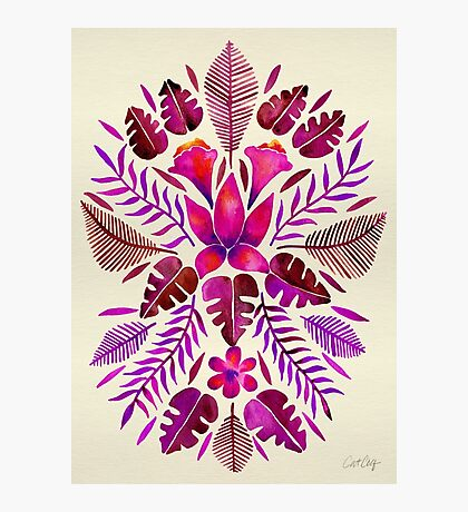 Tropical Symmetry – Magenta Photographic Print