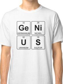 Ge Ni U S - Genius - Periodic Table - Chemistry - Chest Classic T-Shirt
