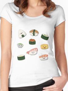 Food - Sushi Women's Fitted Scoop T-Shirt