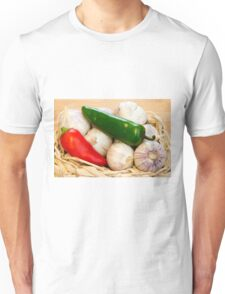 Garlic and Chilli Basket Close-up Unisex T-Shirt