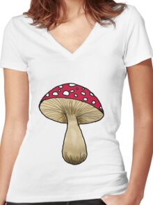 Amanita Women's Fitted V-Neck T-Shirt