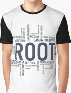 Root Identities - Person Of Interest Graphic T-Shirt