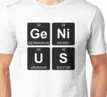 Ge Ni U S - Genius - Periodic Table - Chemistry - Chest Unisex T-Shirt