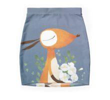 Fox and White Rose Mini Skirt