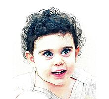 child portrait Photographic Print